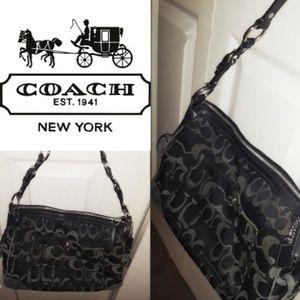 Beautiful Black and grey  coach purse